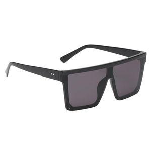 Fashion Square Frame Sonnenbrille für Männer Frauen UV400 Black Frame Black Lens Schwarzer Rahmen Schwarze Linse wie beschrieben