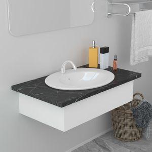 Waschtisch Einbauwaschbecken 51×45,5×19,5 cm Keramik Weiß