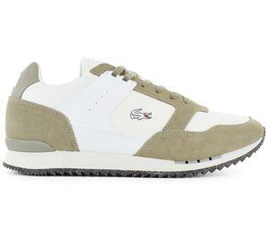 Lacoste Partner Piste - Herren Schuhe Weiß-Khaki 7-40SMA00712A9 , Größe: EU 41 UK 7.5