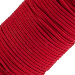 50m Spule Gummikordel Gummischnur 3mm Bekleidungsgummi Hutgummi, 27 Farben, Farbe:kirschrot