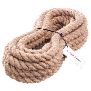 Seilwerk STANKE Juteseil Naturfasern gedreht Tauwerk Hanf Jute Tau Seil Tauziehen Absperrseil Handlauf 20mm 5m