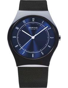 BERING Ceramic Herrenuhr schwarz/blau 32039-440