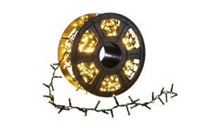 10 Meter Lichterkette - 500 warm-weiße LED Lichter auf Kunststoffrad