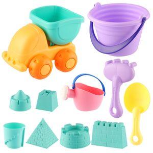 11 Stück Kids Beach Toys Set für Kleinkinder Beach Fun Sand Toy Set Beach Bucket