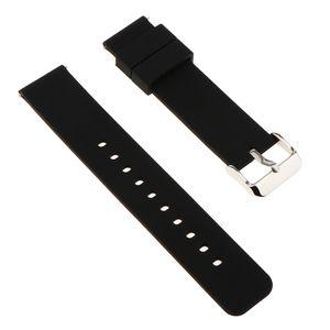 1 Stück Silikon Uhrenarmband mit Federleiste , Größe 18mm Farbe Schwarz