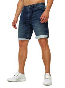 Sublevel Sweat Jeans Shorts Stretch Kurze Denim Sommer Hose dehnbar 98-86 , Grösse:W30, Farbe:Dunkelblau