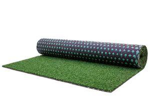 Kunstrasen Rasenteppich mit Noppen WIMBLEDON - 4,00m x 8,00m, Wasserdurchlässiger Outdoor Bodenbelag für Balkon & Terrasse