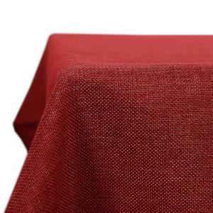 Kartokner Tischdecke Wasserdicht Tischdecke Lotuseffekt Tischtuch Leinenoptik 130x200 cm Rot