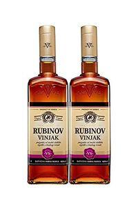2x Vinjak (Vignac) Rubin VS Weinbrand aus Serbien 1 l