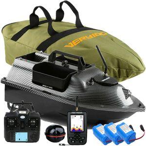500M GPS Kabellos Fischerköder Boot Futterboote LCD Anzeige Fischfinder Mit Sonar Sensor Tragetasche Ersatzbatterie