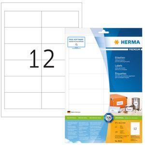 Etiketten Premium A4, weiß 97x42,3 mm Papier matt 120 St.