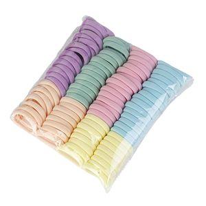 100x Nahtlose Elastische Frauen Mädchen Haargummi Haargummis Licht Farbe 5cm 13-18cm Lichtfarbe 5cm elastischer Haargummi