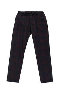 Blue Fire Co Damen Jeanshose W28 L30 tartan Karomuster Skinny Fit Lara #BB01
