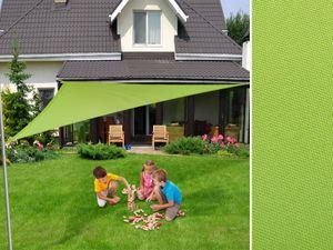 Sonnensegel dreieckig, wasserabweisend, Farbe: hellgrün, Größe: 5 x 5 x 5 m