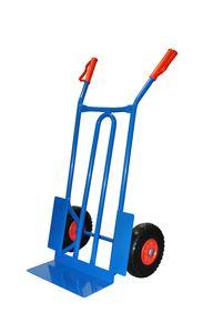 Stahl-Sackkarre mit pannensicheren Rädern, BxTxH  570 x 500 x 1070 mm, Tragkraft 250 kg