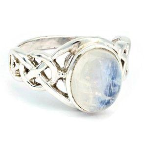 Mondstein Ring 925 Silber Sterlingsilber Damenring weiß (MRI 177-04),  Ringgröße:50 mm / Ø 15.9 mm