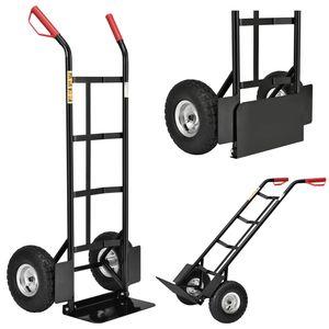 Juskys Sackkarre Basic klappbar   100 kg belastbar   große Luftreifen   Kunststoff Griffe   Stahl Rahmen   Transportkarre Karre