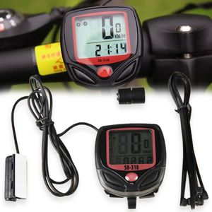 Wasserdichter leuchtender LCD MTB Mountainbike Fahrrad Computer Tachometer Kilometerzaehler