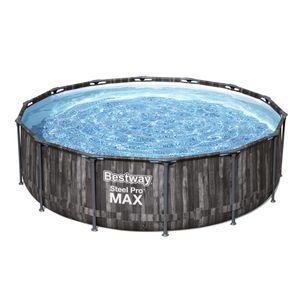 Bestway Steel Pro Max™ Frame Pool Komplett-Set, rund, 427x107cm, 5614Z