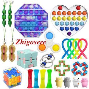 23 Stück / Set Push Bubble Fidget Antistress Toys Erwachsene Kinder Pop Fidget Sensory Toy Für Erwachsene Kinder