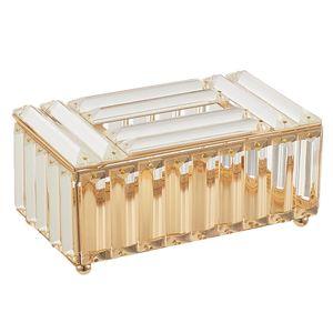 Kristall Kosmetiktücherbox Papier Aufbewahrungsbox Papiertücher Taschentuchbox, 2 Farbe Auswahl Farbe Champagner