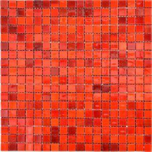 Glas Glasmosaik rot Wand Fliesenspiegel Küche  Bad_f   10 Mosaikmatten
