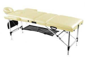 Massageliege mobile 3 Zonen Alu Massagebank klappbar höhenverstellbar Tragetasche mit Rollen