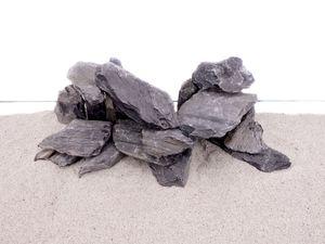 Aquarium Natursteine Mini Landschaft Stein schwarz grau 1 Stück Gr.M 300-700g Nr.72