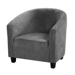 Topchances Club Chair Schonbezug,Stuhlbezüge aus Samt mit hoher Dehnung Sessel Sofabezug Schonbezug Möbelschutz Weiche Couchbezüge (Grau, Samt)