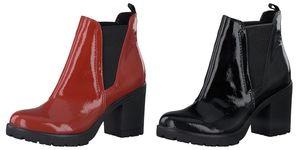 Marco Tozzi Damen Stiefeletten Chelsea Boots Lack Patent , Farbe:Rot (Red Patent), Größe:EUR 39