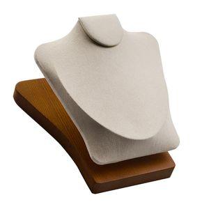 Chain Neck Bust Stand Anhänger Schmuck Modell Display Requisiten für Juweliergeschäft Farbe Beige