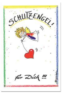 Design Grußkarte Schutzengel für Dich Postkarte Engel Karte Klappkarte Engelchen