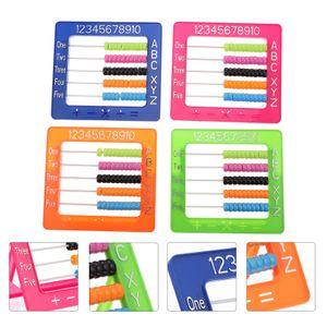 4pcs 5 Reihen Abacus Stand Mathe Lernspielzeug Kinder Lernspielzeug (zufällige Farbe)
