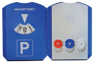 uniTEC Multifunktions Parkscheibe aus Kunststoff blau