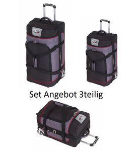Trolley Reisetaschen 3teilig mit 2 Rollen und Dehnfalte