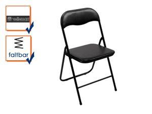 Klappstuhl schwarz PVC und Metall 38 x 43 x 78 cm Sitzfläche 37 x 38cm