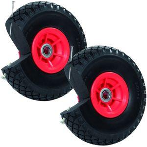 2x Sackkarrenrad Pannensicher 260x85 mm 3.00-4 PolyurethanSackkarre Ersatzrad Rad Reifen
