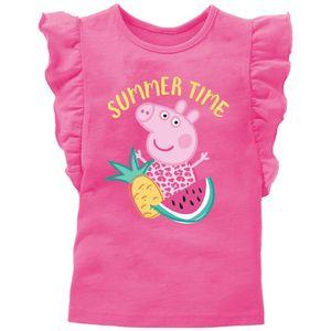 """Peppa Pig - Kinder T-Shirt Mädchen pink, mit glitzer Buchstaben """" summer time"""" 86/92"""