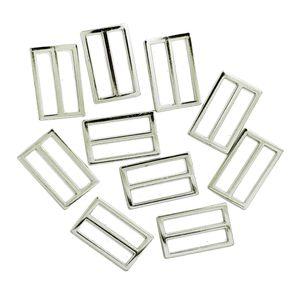 10pcs Metall-Schnallen Leiterschnalle Gurtversteller Schiebeleiste 25mm für DIY Geldbörse, Taschen, Gurtband