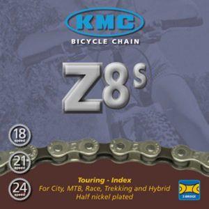 """Schaltungskette KMC Z-8S Montagev.(VE25) 1/2"""" x 3/32"""", 116 Glieder, 7,1mm, 8-fach"""