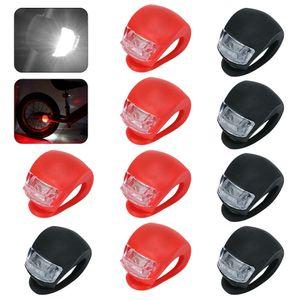 10x Fahrradlampe Fahrrad Frontlicht Rücklicht Radlicht LED Silikon Lampe — QingShop
