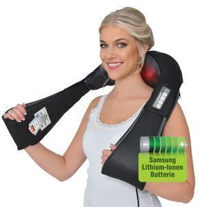 Donnerberg® Nackenmassagegerät DAS ORIGINAL aus München mit Samsung Akku Shiatsu Nacken und Rücken Massagegerät Vibration & Wärme Massage Nackenmassage gerät