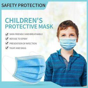200 Stk Einwegmasken für Kinder Blau Kinder Gesichtsmaske Einweg-3-lagige Mundmaske