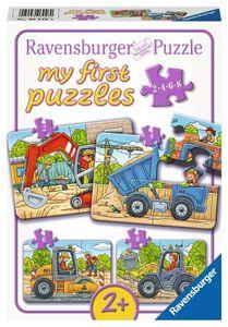 2, 4, 6, 8 Teile Ravensburger Kinder my first puzzles Baustellenfahrzeuge 06946