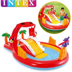 Intex Happy Dino Play Center Wasserspielplatz | Planschbecken Rutsche | 57160NP