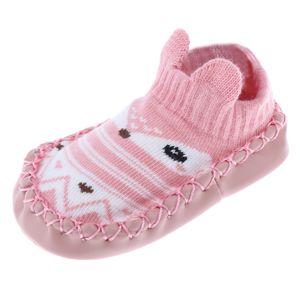Neugeborenes Warmes Baby Girs Jungen Rutschfeste Socken Schuh Socke 0 12 Monate Warm 14 Rosa