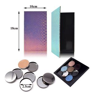 1 Stück Leere Magnetische Palette Fall Box + 100 Leere Lidschatten Make-up Pfannen