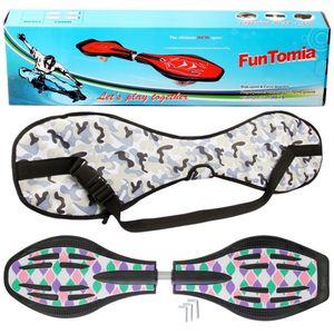 FunTomia® mit LED-Rollen - 2843 - Design lila türkis - Waveboard ORIGINAL