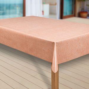 Wachstuch-Tischdecke Wachstischdecke Tischwäsche Abwaschbar Wachstuchdecke, Muster:Uni orange meliert, Größe:118x140 cm