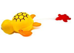 Badespielzeug Schildkröte Gelb Aufziehspielzeug Badewanne Spielzeug NEU &
